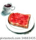麵包 早餐 白麵包 34663435