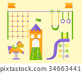 vector, children, playground 34663441