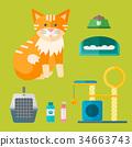 矢量 矢量图 猫 34663743