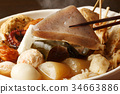oden, stewed cuisine, food cooked in a pot 34663886