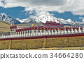 tibetan monastery by Tagong grassland in China 34664280
