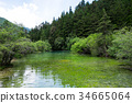 Lianyan pond, five different colorful in the pond 34665064
