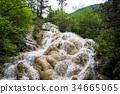 Flying waterfall on lotus platform 34665065