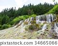 Marvelous flying waterfall during summer season 34665066