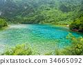 Peacock lake, one of the largest lake, Jiuzhaigou 34665092