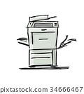 printer, office, vector 34666467