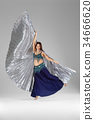 belly dancer in costume with wings 34666620