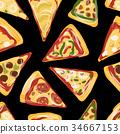 設計 披薩 向量 34667153