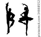Couple ballet dancers 34668552