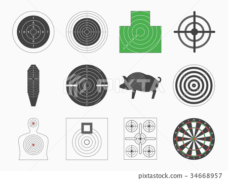 Different Types Board Target Set. Vector 34668957