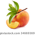 peach, yellow, ripe 34669369