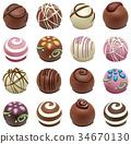 vector set of chocolate candies 34670130