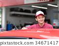 加油站 店员 售货员 34671417