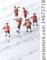 玩偶 塑像 演奏 34672718