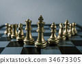 Chess board game concept of business team  34673305