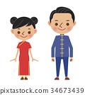 矢量 中國 瓷器 34673439