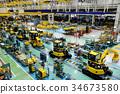 IoT를 도입 한 건설 기계의 조립 공장 34673580