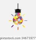 抽象 背景 燈泡 34673977