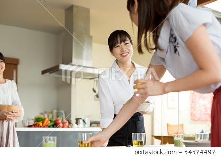 요리 교실 요리 학교 학습 34674497