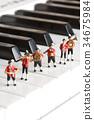 音乐 钢琴 演奏 34675984