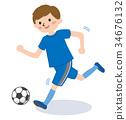 青年足球 足球 男孩 34676132