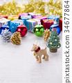 聖誕節圖像(馴鹿) 34677864