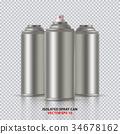 噴射 噴霧 罐子 34678162
