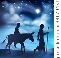 nativity, christmas, joseph 34679451