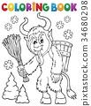 coloring book Krampus 34680298