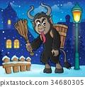 Krampus horn branch 34680305