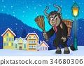 Krampus horn branch 34680306
