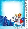 Sinterklaas, horse, frame 34680335
