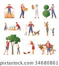 farming people set 34680861