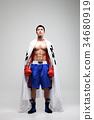 標誌 拳擊 男人 34680919