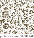 bakery, sketch, vector 34680948