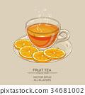 orange, tea, cup 34681002