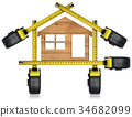 Wooden Model House - Tape Measures Tools 34682099