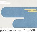 배경, 일본 종이, 일본풍 무늬 34682286