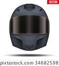 helmet, black, moto 34682598