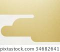 日本纸 - 日本模式 - 背景 - 镀金 - 现代 34682641
