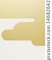日本纸 - 日本模式 - 背景 - 镀金 - 现代 34682642