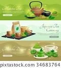 橫幅 綠色 綠 34683764
