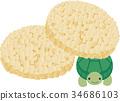 Pon senbei and turtle 34686103