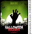 zombie undead halloween 34686638