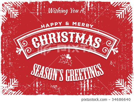 Merry Christmas Red Background 34686640