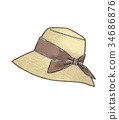 Straw hat illustration 34686876