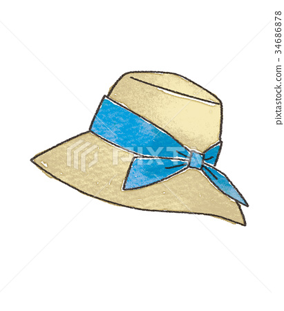 Straw hat illustration 34686878