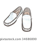 Illustration of loafers 34686890
