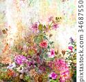 flower colorful paint 34687550