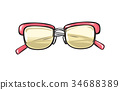 glasses, fashion, vector 34688389